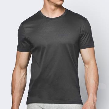 Koszulka bawełniana męska <br> grafitowy, BMV-048 - Atlantic