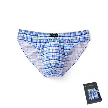 2 Pack Slipy męskie SPORT w kolorze niebieskim z elastycznej bawełny w dobrej cenie ATLANTIC CASUAL Bielizna wyprzedaż#1