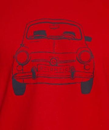 T-shirt męski <br> czerwony, NMT-031 - Atlantic