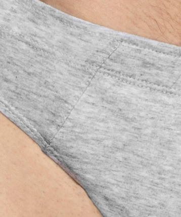 2 Pack Slipy męskie Sport z naturalnej bawełny w kolorze szary melanż Bielizna Atlantic Basic#2