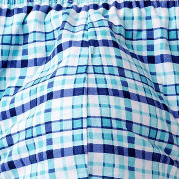 2 Pack Slipy męskie SPORT w kolorze turkusowym w kratę z elastycznej bawełny Bielizna Atlantic CASUAL#2