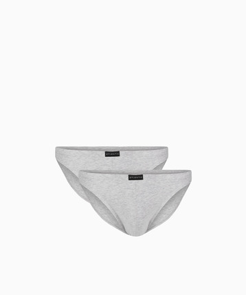 2 Pack Slipy męskie Mini w kolorze szarym z bawełny z elastanem Bielizna Atlantic Basic#1