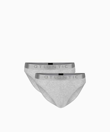 2 Pack Slipy męskie Sport z bawełny Pima w kolorze szary melanż Bielizna Atlantic Basic#1
