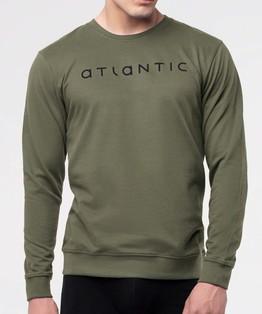 bluza piżamowa męska <br> khaki, NMT-032 - Atlantic