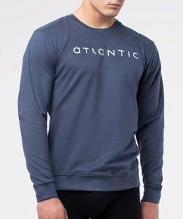 bluza piżamowa męska <br> granatowy, NMT-032 - Atlantic