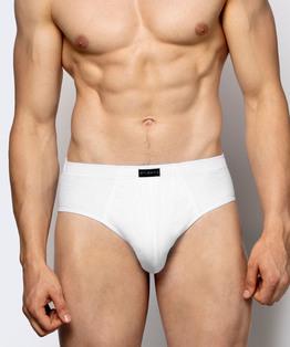 <b>2 x Slipy męskie Classic białe</b> <br> bawełna naturalna<br> Bielizna Atlantic Basic