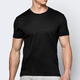 koszulka bawełniana <br> czarny, BMV-048 - Atlantic