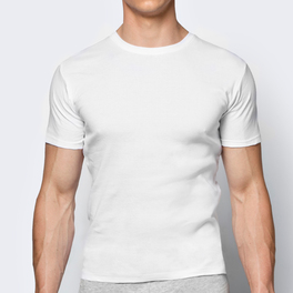 koszulka bawełniana <br> biały, BMV-048 - Atlantic