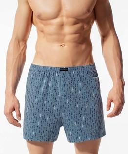 Bokserki męskie Classic z naturalnej bawełny w kolorze denim Bielizna Atlantic ENERGY#1