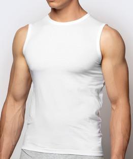 Bawełniana koszulka męska w kolorze białym