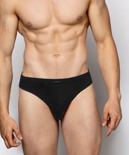 <b>2 x Slipy męskie Sport czarne</b> <br> elastyczna bawełna<br> Bielizna Atlantic Basic