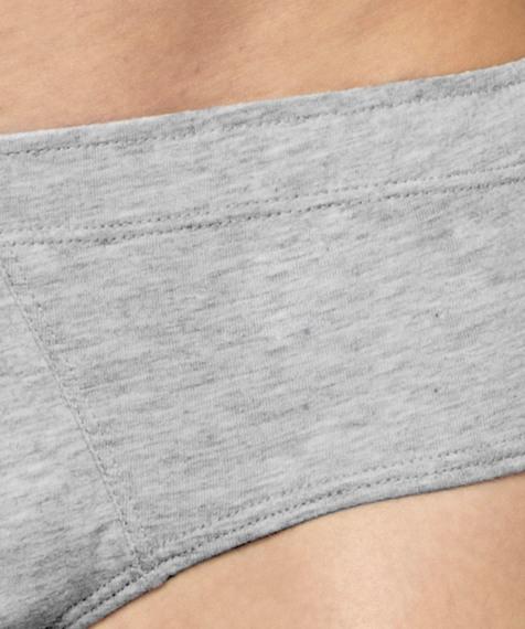 2 Pack Slipy męskie Classic z naturalnej bawełny w kolorze szary melanż Bielizna Atlantic Basic#2