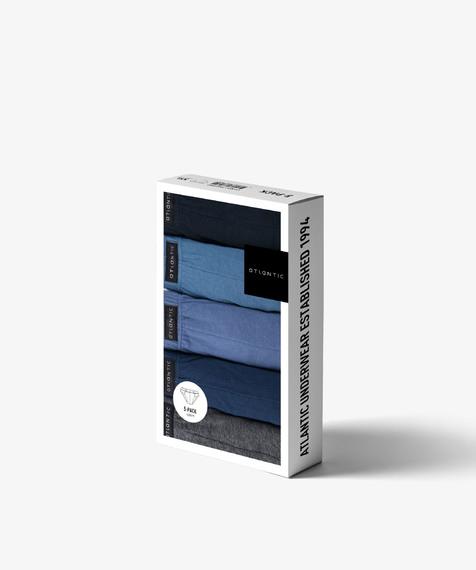 5-Pack Slipy Męskie Sportowe bawełniane gładkie, Kolekcja Classic, Bielizna Atlantic