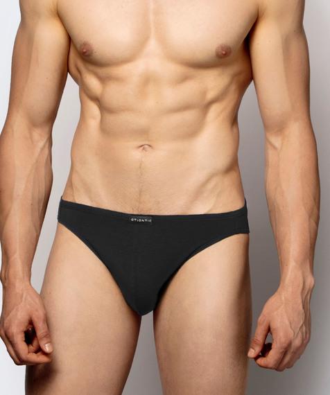 2 Pack Slipy męskie Mini w kolorze czarnym z  bawełny Pima Bielizna Atlantic Basic#1