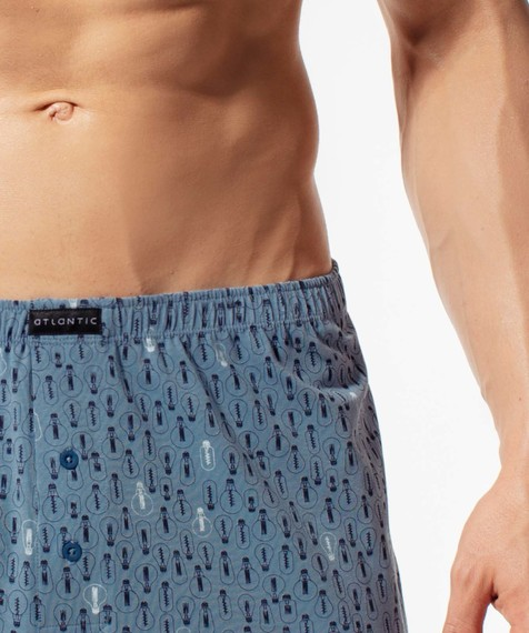 Bokserki męskie Classic z naturalnej bawełny w kolorze denim Bielizna Atlantic ENERGY#2