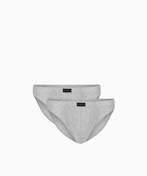 2 Pack Slipy męskie Sport z naturalnej bawełny w kolorze szary melanż Bielizna Atlantic Basic#1