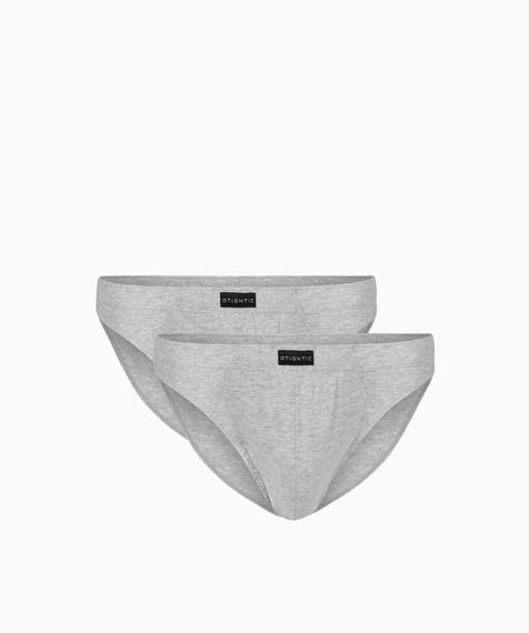 2 Pack Slipy męskie Sport w kolorze szary melanż z naturalnej bawełny Bielizna Atlantic Basic#1
