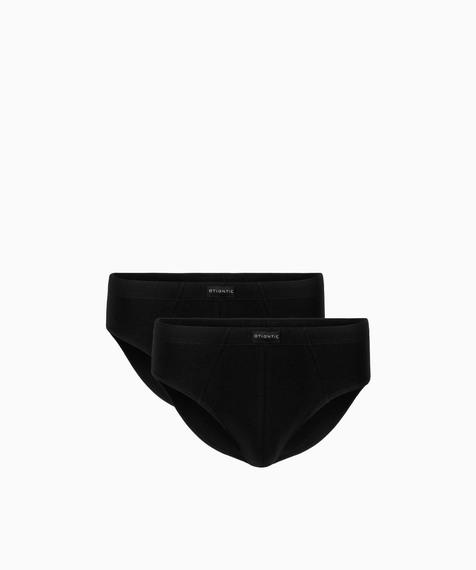 2 Pack Czarne slipy Atlantic męskie Classic naturalna bawełna kolekcja Basic#1