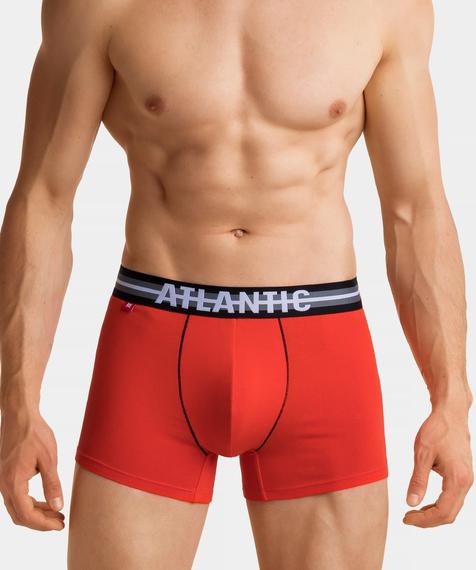 W 3-packu męskiej bielizny znajdują się przylegające do ciała bokserki w kolorach: khaki, pomarańczowy i szary melanż#6