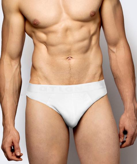 2 Pack Slipy męskie Sport w kolorze białym z bambusa Bielizna Atlantic Basic#1