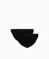 2 Pack Slipy męskie Mini z bawełny z dodatkiem elastanu Bielizna Atlantic Basic w kolorze czarnym#2