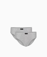 2 Pack Slipy męskie Classic z naturalnej bawełny w kolorze szary melanż Bielizna Atlantic Basic#1