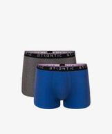 2 Pack Bokserki Męskie obcisłe bawełniane z elastanem gładkie, kolekcja Sport, Bielizna Atlantic