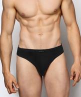 2 Pack Slipy męskie Sport w kolorze czarnym z naturalnej bawełny Bielizna Atlantic Basic#1