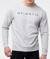 bluza piżamowa męska <br> szary melanż, NMT-032 - Atlantic