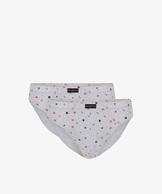 2 Pack Slipy męskie Sport w kolorze szary melanż z bawełny z elastanem Bielizna Atlantic SIGNAL#1
