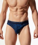 2 Pack Slipy męskie krój sport w kolorze niebieskim z elastycznej bawełny z nadrukiem ATLANTIC SPORT.LINE Vigor