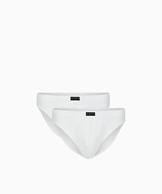 2 Pack Slipy męskie Sport z naturalnej bawełny w kolorze białym Bielizna Atlantic Basic#1
