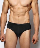2 Pack Slipy męskie Classic z naturalnej bawełny w kolorze czarnym Bielizna Atlantic Basic#1