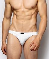 2 Pack Slipy męskie Mini z bawełny z dodatkiem elastanu Bielizna Atlantic Basic w kolorze białym#1