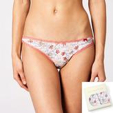 <b>2 szt.</b>, figi damskie mini bikini, nadruk <br> mix kolorów, LP-2682 - Atlantic