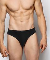 2 Pack Slipy męskie Sport z bawełny z elastanem w kolorze czarnym Bielizna Atlantic Basic#1