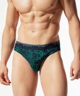 2 Pack Slipy męskie o kroju sport w kolorze zielonym z elastycznej bawełny Atlantic SPORT.LINE Vigor