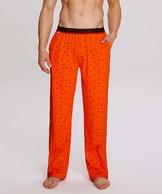spodnie piżamowe męskie w mrówki <br> pomarańczowy, NMB-036 - Atlantic